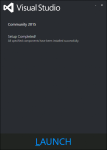 Visual Stduio 2015 インストール