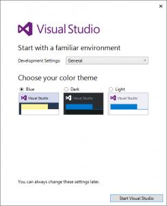 Visual Stduio 2015 起動