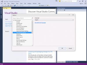 Visual Stduio 2015 国際対応の設定